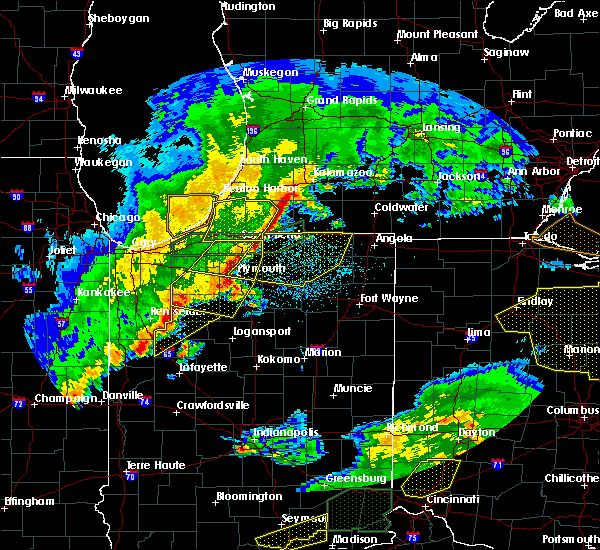Radar Image for Severe Thunderstorms near Shipshewana, IN at 3/1/2017 1:33 AM EST