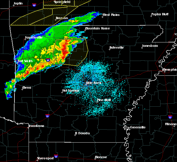 Radar Image for Severe Thunderstorms near Marshall, AR at 3/1/2017 1:59 AM CST