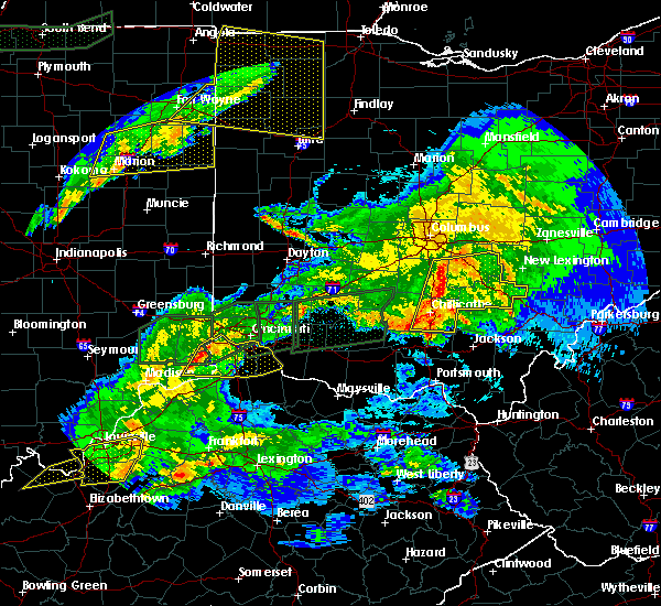 Radar Image for Severe Thunderstorms near Cincinnati, OH at 3/1/2017 3:09 AM EST