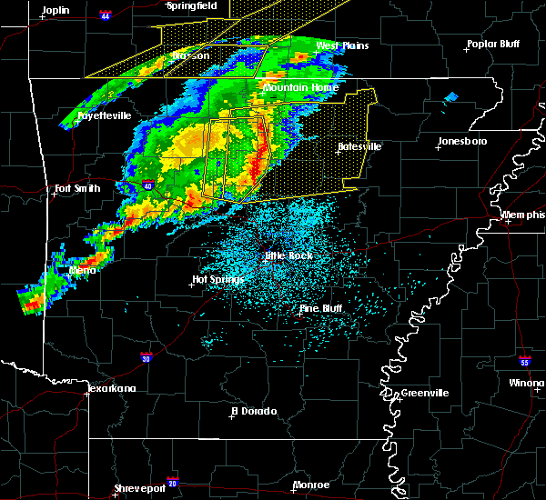 Radar Image for Severe Thunderstorms near Mount Pleasant, AR at 3/1/2017 2:30 AM CST