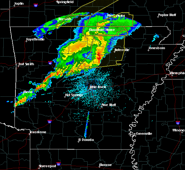 Radar Image for Severe Thunderstorms near Higden, AR at 3/1/2017 2:50 AM CST