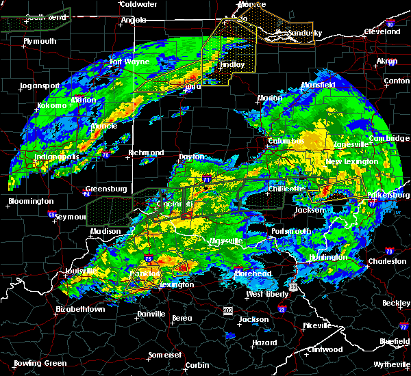 Radar Image for Severe Thunderstorms near Williamsburg, OH at 3/1/2017 3:52 AM EST