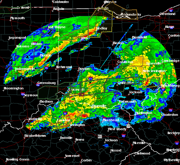 Radar Image for Severe Thunderstorms near Williamsburg, OH at 3/1/2017 3:59 AM EST