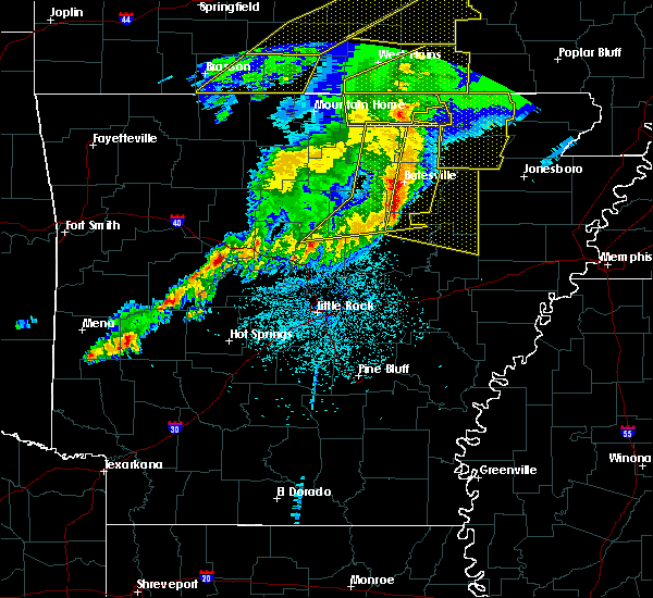 Radar Image for Severe Thunderstorms near Newport, AR at 3/1/2017 3:08 AM CST