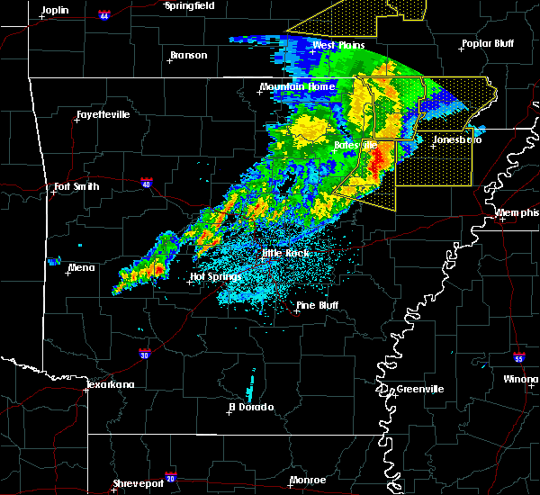 Radar Image for Severe Thunderstorms near Bradford, AR at 3/1/2017 3:33 AM CST