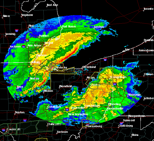 Radar Image for Severe Thunderstorms near Cortland, OH at 3/1/2017 4:34 AM EST