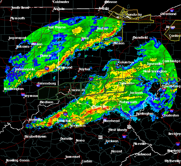 Radar Image for Severe Thunderstorms near Otway, OH at 3/1/2017 4:34 AM EST