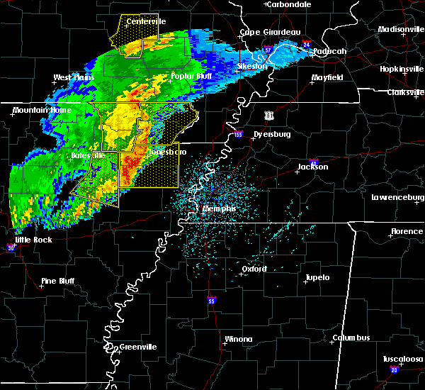 Radar Image for Severe Thunderstorms near Black Oak, AR at 3/1/2017 3:46 AM CST