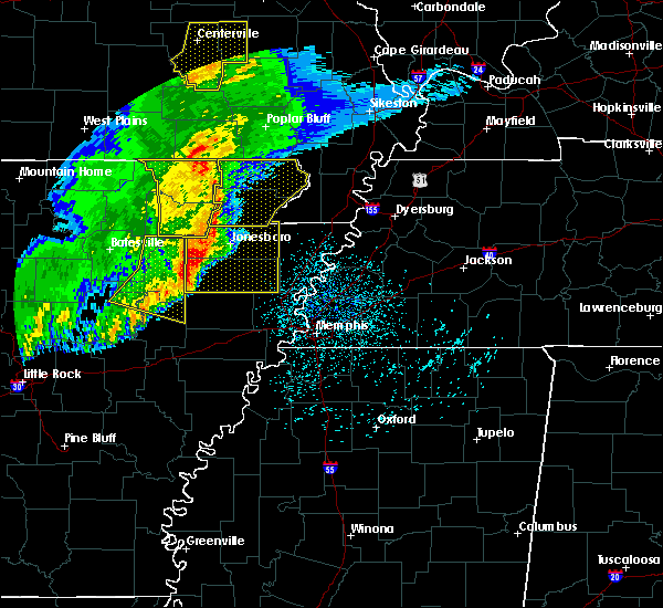 Radar Image for Severe Thunderstorms near Delaplaine, AR at 3/1/2017 3:45 AM CST