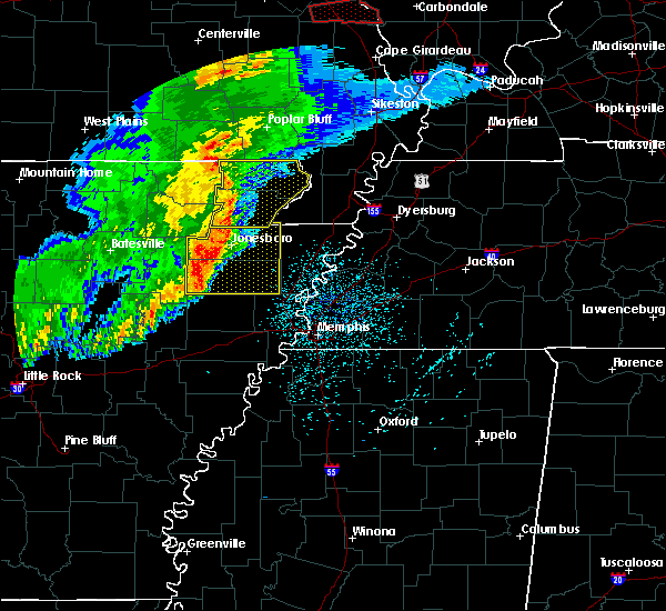 Radar Image for Severe Thunderstorms near Delaplaine, AR at 3/1/2017 3:51 AM CST