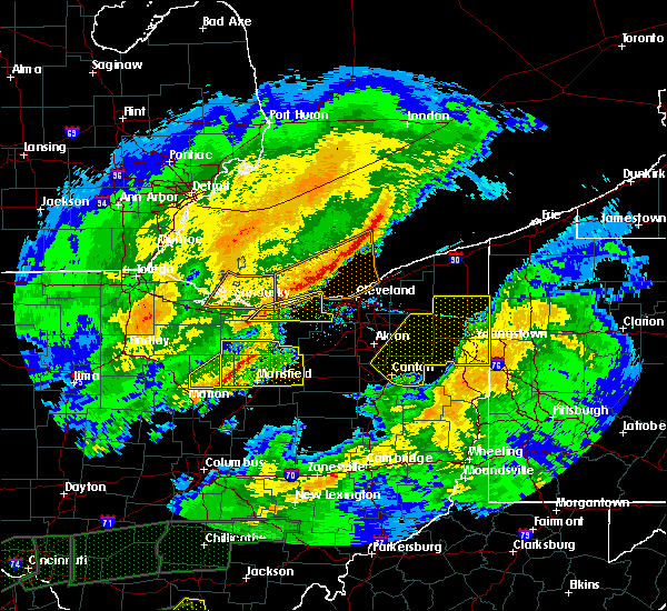 Radar Image for Severe Thunderstorms near Oberlin, OH at 3/1/2017 4:59 AM EST