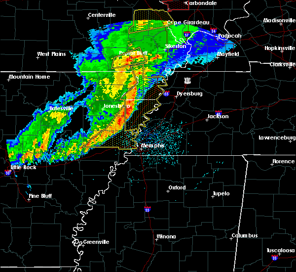 Radar Image for Severe Thunderstorms near West Memphis, AR at 3/1/2017 4:19 AM CST