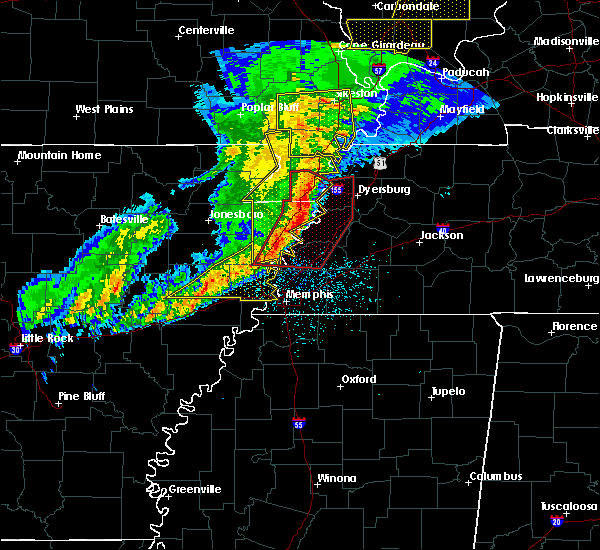 Radar Image for Severe Thunderstorms near West Memphis, AR at 3/1/2017 4:35 AM CST