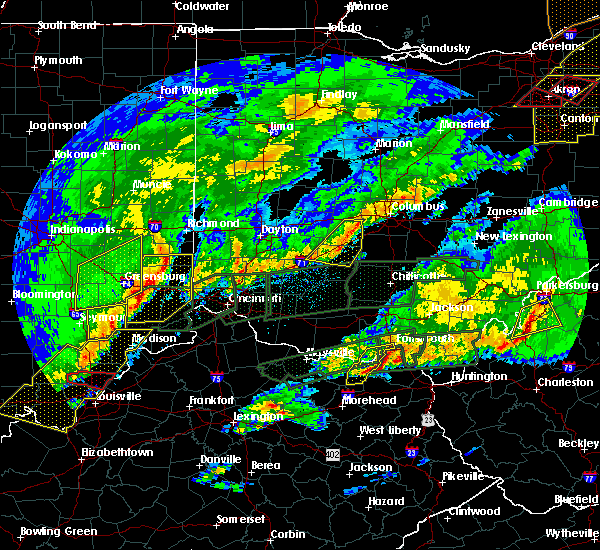 Radar Image for Severe Thunderstorms near Jeffersonville, OH at 3/1/2017 6:14 AM EST