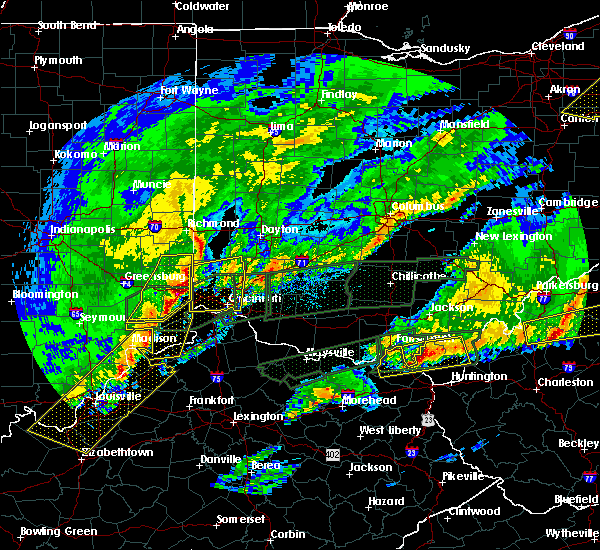 Radar Image for Severe Thunderstorms near Cincinnati, OH at 3/1/2017 6:33 AM EST