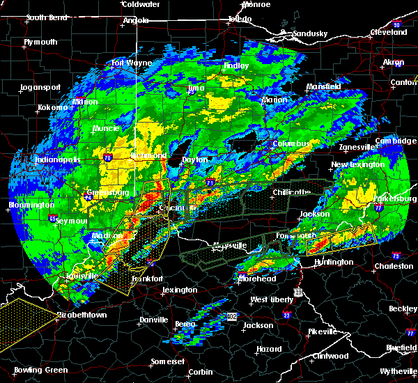 Radar Image for Severe Thunderstorms near Cincinnati, OH at 3/1/2017 6:48 AM EST