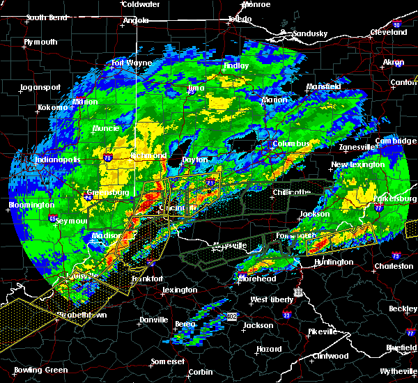Radar Image for Severe Thunderstorms near Waynesville, OH at 3/1/2017 6:52 AM EST