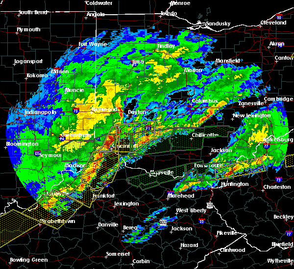 Radar Image for Severe Thunderstorms near Cincinnati, OH at 3/1/2017 6:55 AM EST