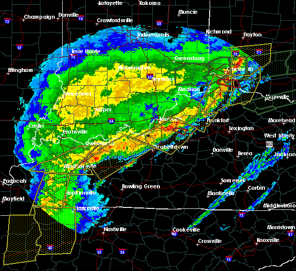 Radar Image for Severe Thunderstorms near Taylorsville, KY at 3/1/2017 7:04 AM EST