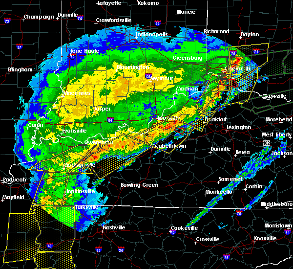 Radar Image for Severe Thunderstorms near Taylorsville, KY at 3/1/2017 7:08 AM EST
