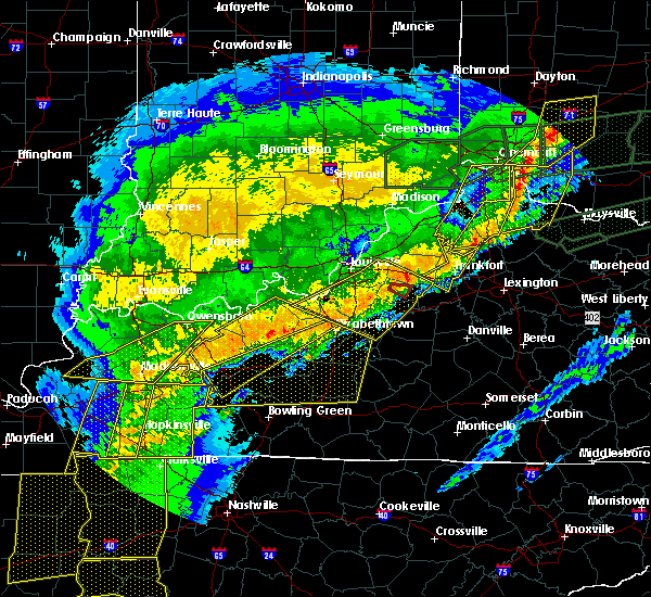 Radar Image for Severe Thunderstorms near Taylorsville, KY at 3/1/2017 7:14 AM EST