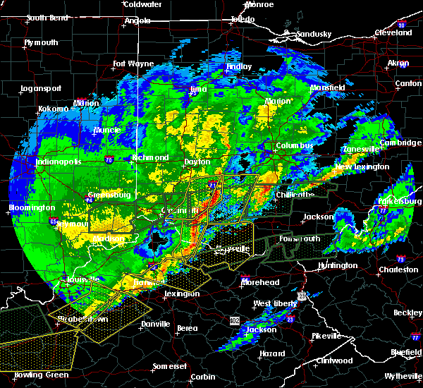 Radar Image for Severe Thunderstorms near Cincinnati, OH at 3/1/2017 7:29 AM EST