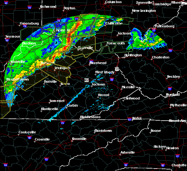 Radar Image for Severe Thunderstorms near Midway, KY at 3/1/2017 7:33 AM EST