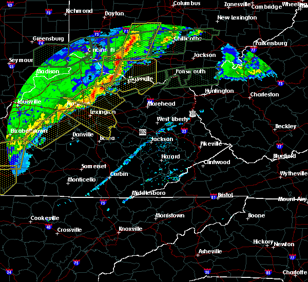 Radar Image for Severe Thunderstorms near Morehead, KY at 3/1/2017 7:36 AM EST