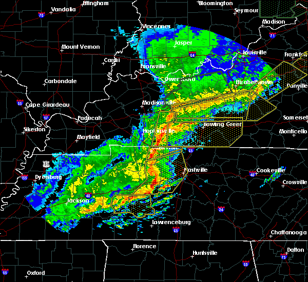Radar Image for Severe Thunderstorms near Rochester, KY at 3/1/2017 6:45 AM CST