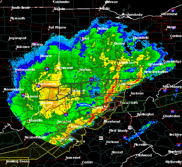 Radar Image for Severe Thunderstorms near Bentonville, OH at 3/1/2017 8:08 AM EST