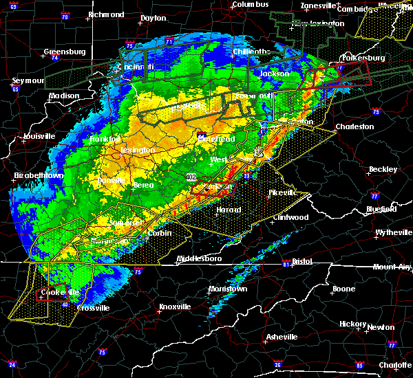 Radar Image for Severe Thunderstorms near Warfield, KY at 3/1/2017 9:30 AM EST