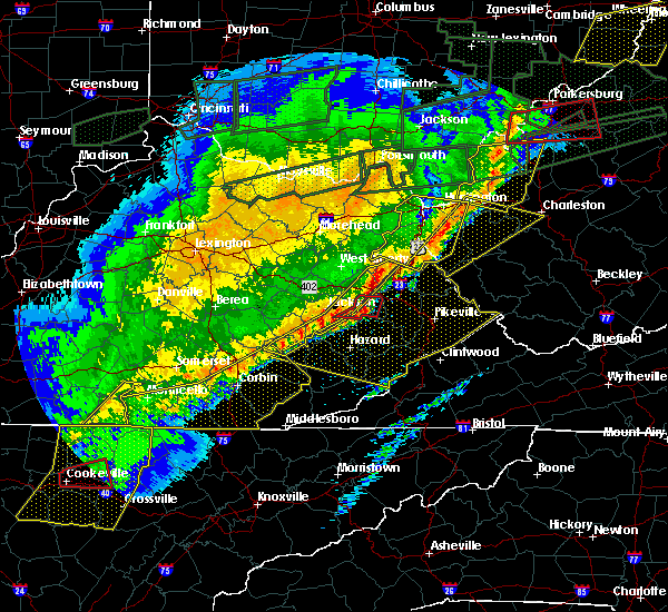 Radar Image for Severe Thunderstorms near Huntington, WV at 3/1/2017 9:34 AM EST