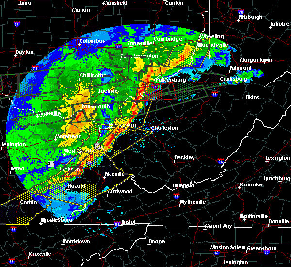 Radar Image for Severe Thunderstorms near Parkersburg, WV at 3/1/2017 9:34 AM EST