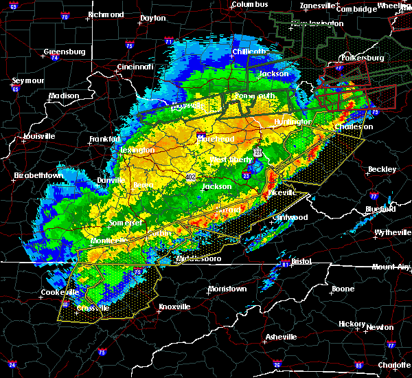 Radar Image for Severe Thunderstorms near Benham, KY at 3/1/2017 9:59 AM EST