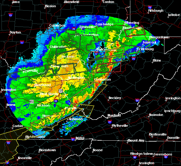 Radar Image for Severe Thunderstorms near Williamson, WV at 3/1/2017 10:11 AM EST