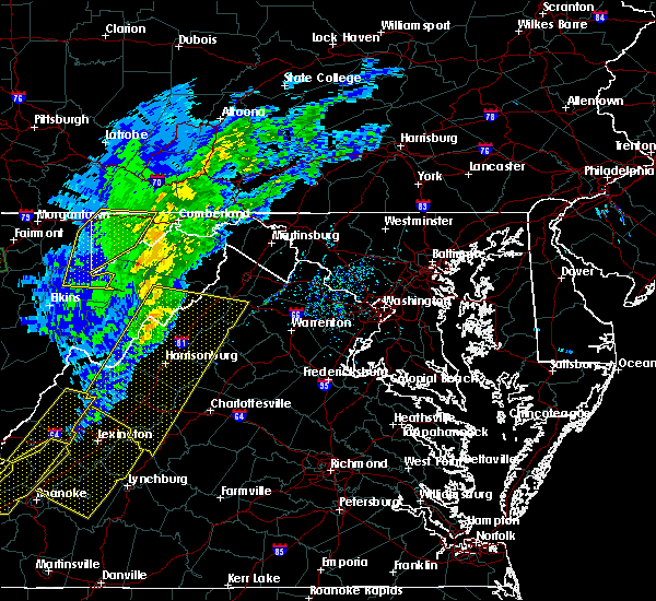 Radar Image for Severe Thunderstorms near Harrisonburg, VA at 3/1/2017 12:00 PM EST