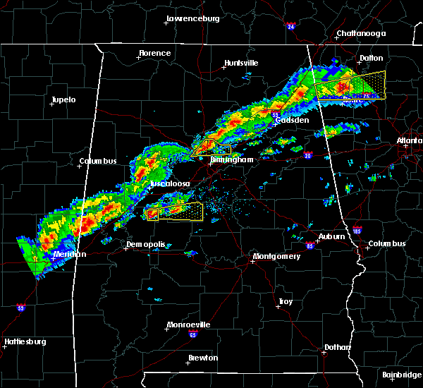 Radar Image for Severe Thunderstorms near Birmingham, AL at 3/1/2017 3:47 PM CST