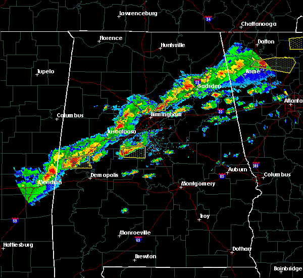 Radar Image for Severe Thunderstorms near Birmingham, AL at 3/1/2017 4:08 PM CST