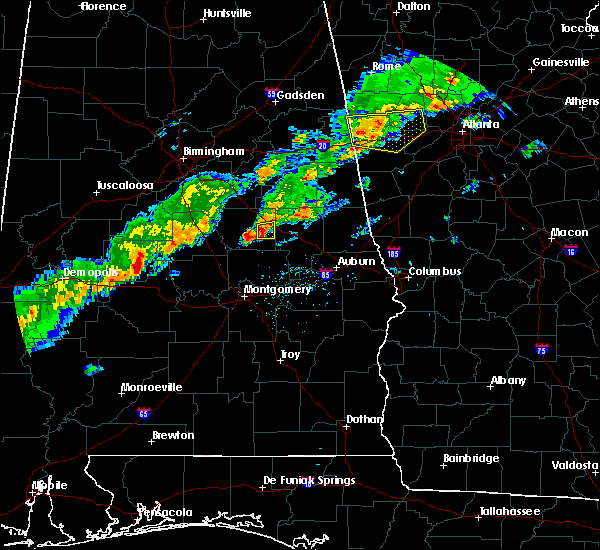 Radar Image for Severe Thunderstorms near Hissop, AL at 3/1/2017 5:38 PM CST