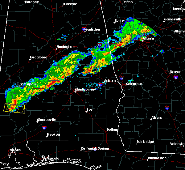Radar Image for Severe Thunderstorms near New Site, AL at 3/1/2017 5:54 PM CST
