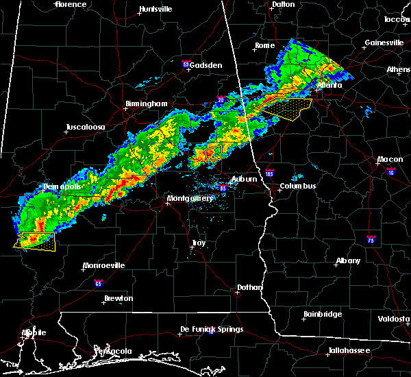 Radar Image for Severe Thunderstorms near New Site, AL at 3/1/2017 6:06 PM CST