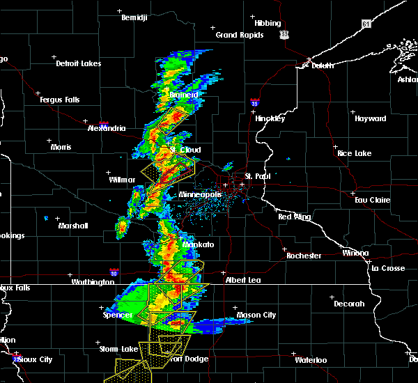 Radar Image for Severe Thunderstorms near Waverly, MN at 3/6/2017 4:53 PM CST