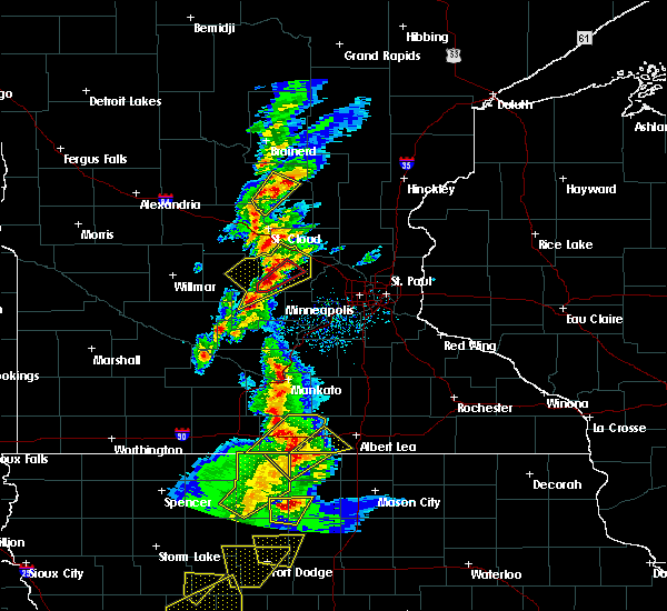 Radar Image for Severe Thunderstorms near Kiester, MN at 3/6/2017 4:59 PM CST