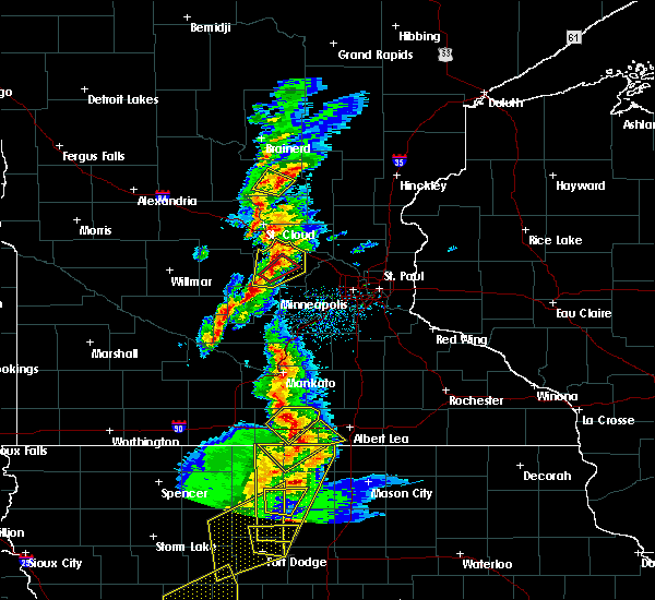Radar Image for Severe Thunderstorms near Maple Lake, MN at 3/6/2017 5:06 PM CST