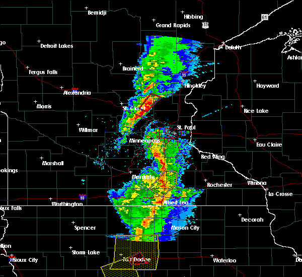 Radar Image for Severe Thunderstorms near Zimmerman, MN at 3/6/2017 5:54 PM CST