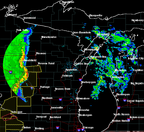 Radar Image for Severe Thunderstorms near Wisconsin Rapids, WI at 3/6/2017 9:51 PM CST