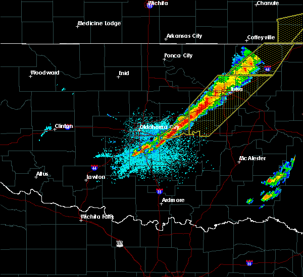 Radar Image for Severe Thunderstorms near Prague, OK at 3/6/2017 10:04 PM CST