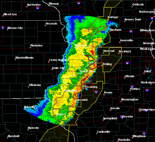 Radar Image for Severe Thunderstorms near Avon, IL at 3/6/2017 11:08 PM CST