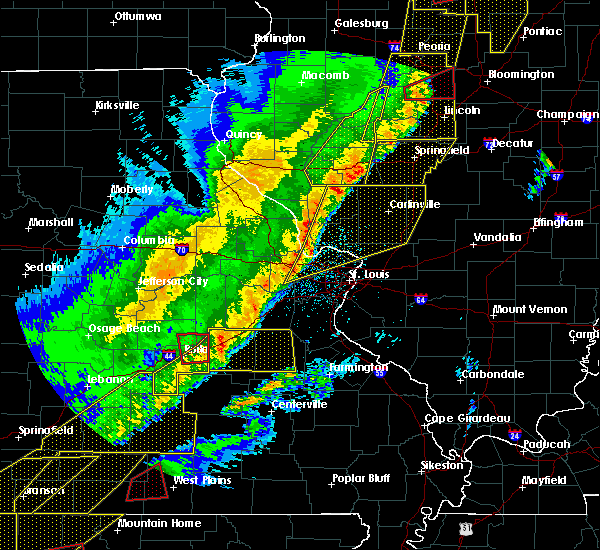 Radar Image for Severe Thunderstorms near Bunker, MO at 3/7/2017 12:15 AM CST