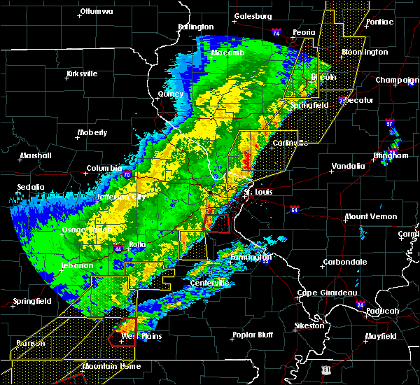 Radar Image for Severe Thunderstorms near Potosi, MO at 3/7/2017 12:40 AM CST